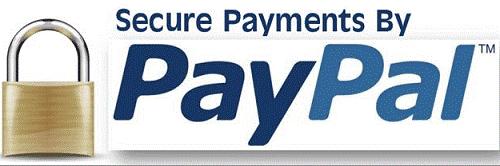 PayPal logo with padlock