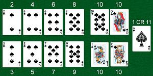 blackjack online card values