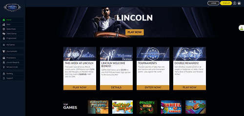 lincoln casino homepage