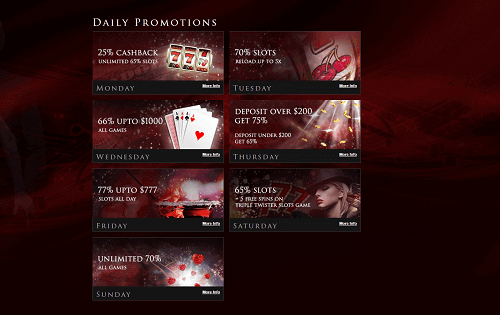lucky red casino weekly promotions