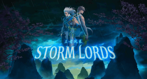 storm lords slot game title card