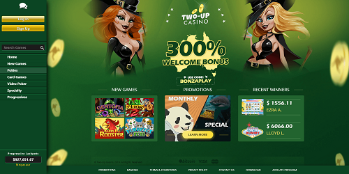 two up casino games usa