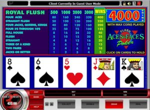 aces and faces royal flush