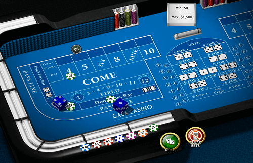 Live Dealer Craps Game