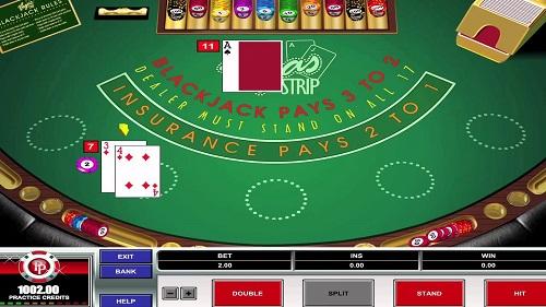Vegas Strip Blackjack game