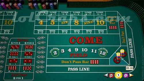 big 6 and big 8 craps bets online
