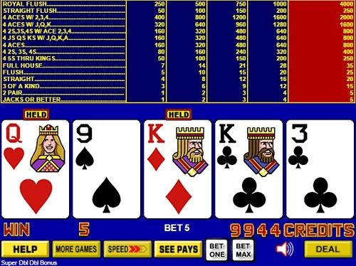 Double Bonus Video Poker Online