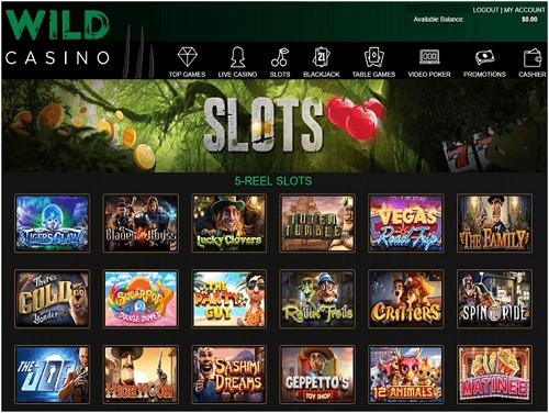 Wild Casino Games Lobby