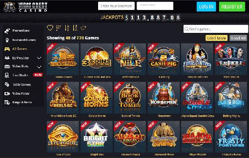 Vegas Crest Casino Games Lobby
