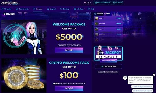Andromeda Casino Bonus Codes