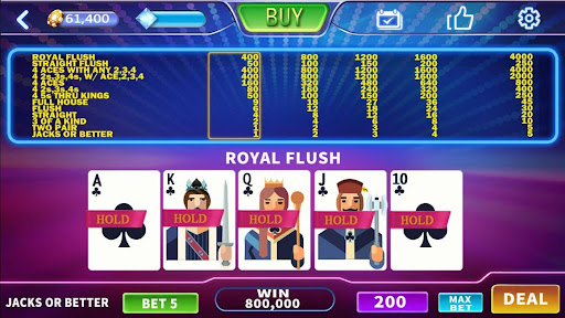 How Much Does A Royal Flush Pay In Video Poker